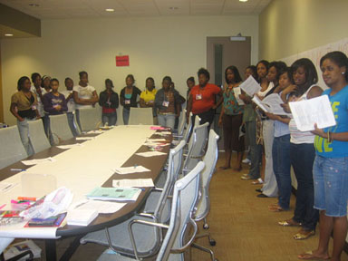 Photo of participants at the Diva Girls workshop
